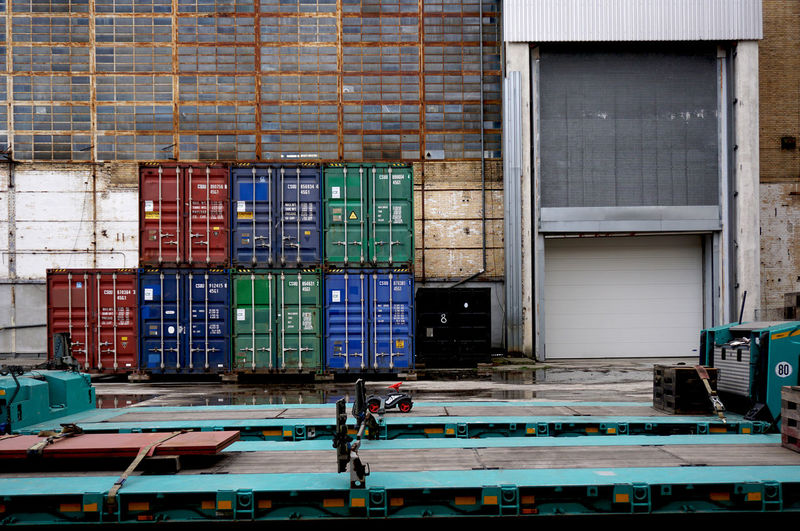 Berlin Oberschoeneweide Cargo Container Freight Transportation Industry Shipping  Large Group Of Objects Architecture Stack Container Transportation Commercial Dock Business Abundance No People Day Building Outdoors Built Structure Industry Old