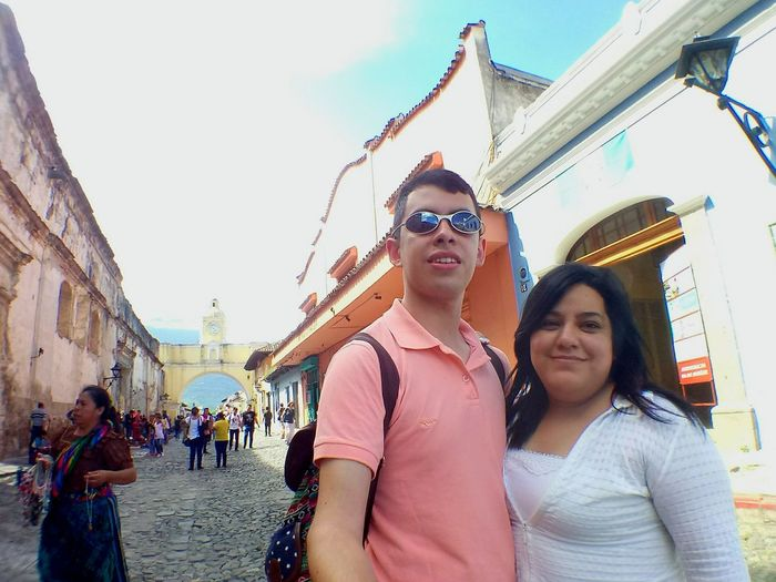 Togetherness Adult Young Adult People Adults Only Women Young Women City City Life Vacations Friendship Happiness Outdoors Smiling Men Day Portrait Travel Destinations Bonding Sky Selfie ✌ La Antigua Guatemala Guatemala 🇬🇹 Guatemala Old Architecture