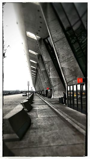 Airport Starting A Trip Saarinen Architecture_bw Engineering