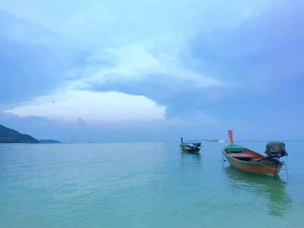 Koh Lipe Satul Thailand Long Boat Water Beach Sky Evening Blue Paradise Iamonmywaytoeverywhere Sunrise Beach Peaceful Nature Natural Beauty Mother Nature