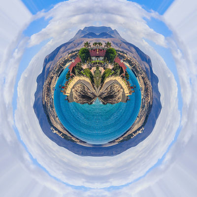 Little Planet Fuerteventura Canary Islands Fuerteventura Holiday Holidays Little Planet Nature SPAIN Travel Day Geometry Lakescape Landscape Little Planet Panorama No People Outdoor Outdoors Round Circles Seaside Sky Square Shot Travel Destination
