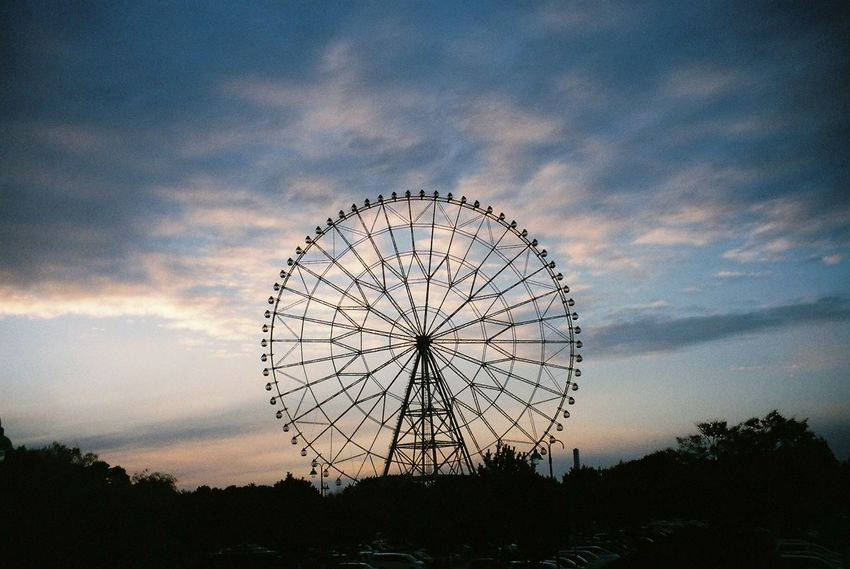 Amusement Park Ferris Wheel Sky Sunset Arts Culture And Entertainment Silhouette Cloud - Sky Big Wheel No People Outdoors Amusement Park Ride