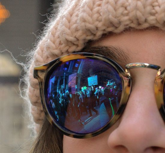 Do you see what I see? Equal Rights  EqualityForAll Focus On The Story Reflection Close-up Portrait Real People Sunglasses Women Womensmarch
