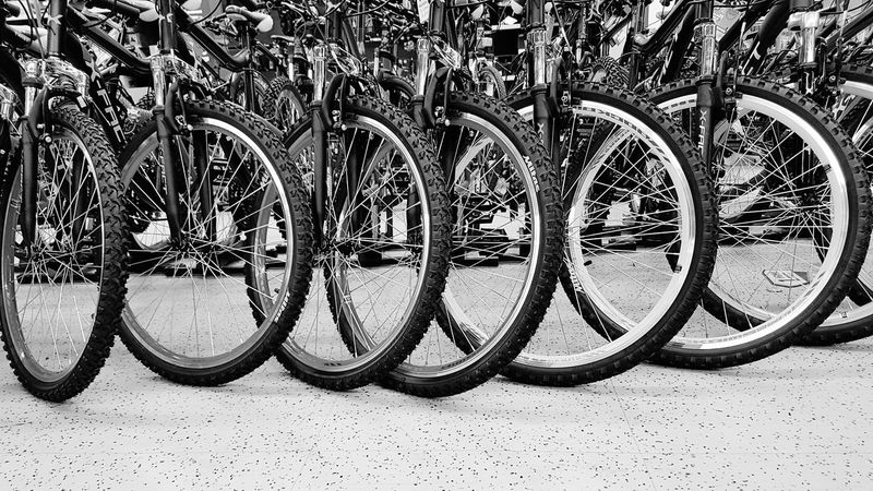 Bicycle Bicycle Rack Mode Of Transport Land Vehicle Bycicles Aligned Bycicle Parts Bycicle Parking Bycicle Photography Bycicle Lovers Spoked Wheels Cycling Equipment Sport EyeEmNewHere PhonePhotography In A Row, Side By Side, ın A Row Wheels Blackandwhite Blackandwhite Photography Monochrome Photography Circles Black And White Friday Stories From The City
