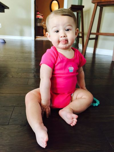 Cutie Babysitting Beautifulbabygirl Everly is a sweetie!❤️