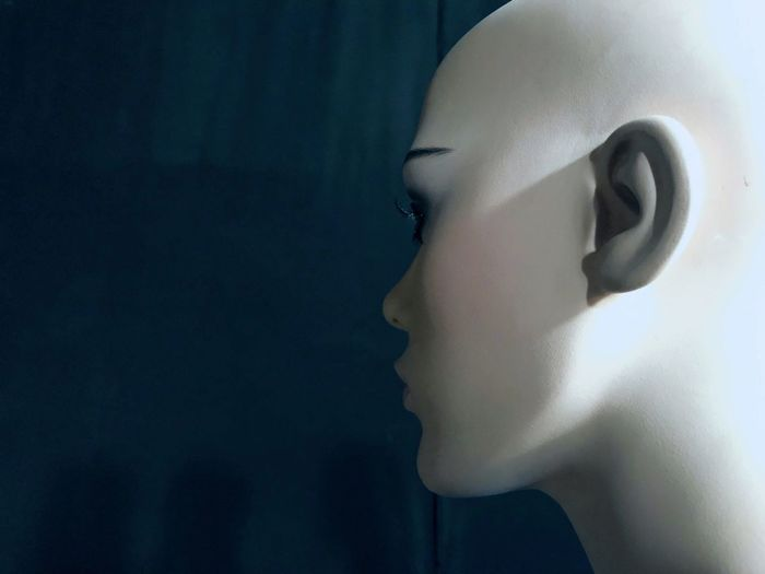 Expression Fashion Beauty Woman The Week on EyeEm EyeEm Selects EyeEm Best Shots Getty Images Future Futuristic Human Body Part Human Face Indoors  Body Part Close-up Headshot Profile View Portrait Side View Human Head White Color Representation Mannequin Contemplation