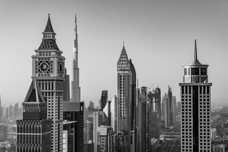 Buildings in dubai against sky