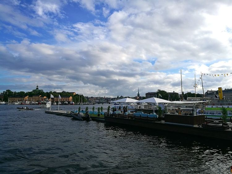 Stockholm Sweden Sunny Afternoon Sunshine And Clouds Boats And Water Outdoors Capital City Waterfront Cloud - Sky Water Travel Destinations Sky Nature Travel Photography Waterfront Scene City Photography Capitalcity Clouds And Sky Clouds And Blue Sky Clouds And Water Reflection Reflections In The Water Smartphonephotography Travel Boats