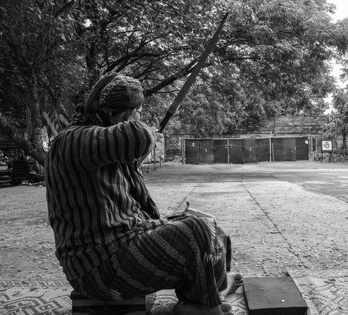 Archery Leisure Activity Lifestyles Tradition Traditional Culture Javanese Culture Javanese Archery Javanese Art Jemparingan Central Java, Indonesia. People And Art Peaceful Moment Humaninterestphotography Human Interest Indonesia Outdoors Bnw_photography Bnw_captures Bnwstreetphotography Bnwhumaninterest