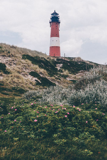 Architecture Beauty In Nature Built Structure Cloud Cloud - Sky Day Growth Landscape Leuchtturm Lighthouse Lighttower Mountain Nature No People Northsea Outdoors Plant Red Sky Sylt Sylt Strand Sylt, Germany Sylt_collection Tranquil Scene Tranquility
