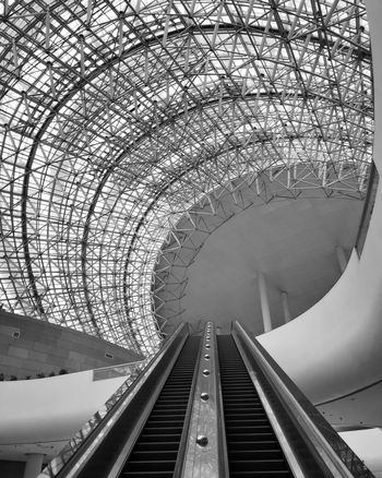 Bnw Transportation Tunnel Architecture Built Structure Connection Arch Railroad Track Day Travel Destinations Modern Subway Train No People Indoors  City Sky Bnw_captures Blackandwhite China Politics And Government City Architecture Indoors