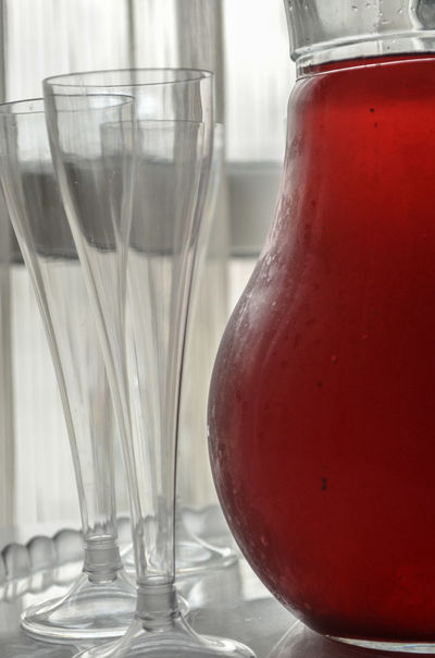Close-up Day Drink Drinking Drinking Glass Drinks Empty Focus On Foreground Fresh Freshness Freshness Glass Glass - Material Glasses Jar No People Onthetable Red Red Refreshment Selective Focus Still Life Taking Photos White White Background