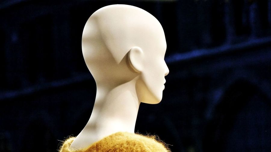 Close-Up Of Mannequin In Darkroom