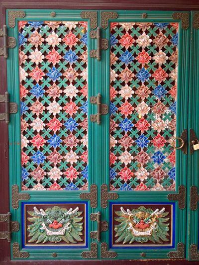 Bongeunsa Temple ASIA South Korea Seoul Traveling Door Buddhism