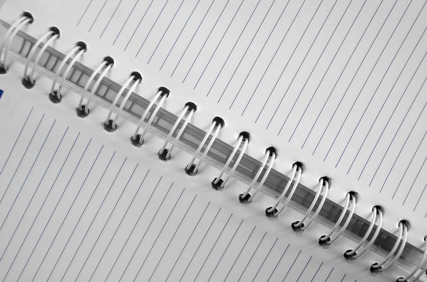 Book Lines Spiral Notebook