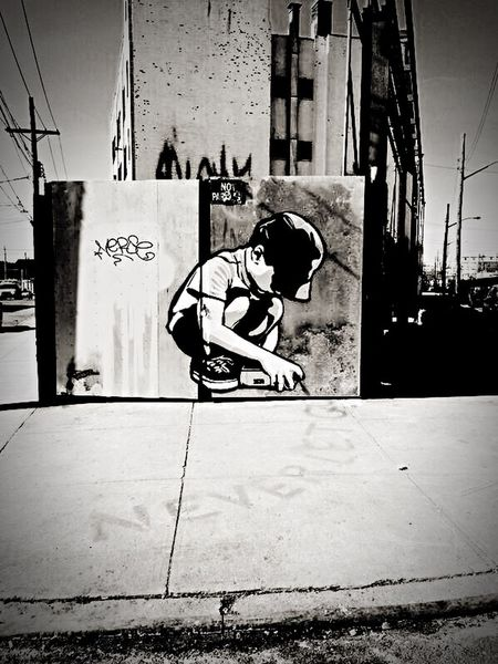"""""""Never let go"""" NYC Never Let Go! Black & White Monochrome Graffiti Art Eye4photography  Check This Out Hello World"""