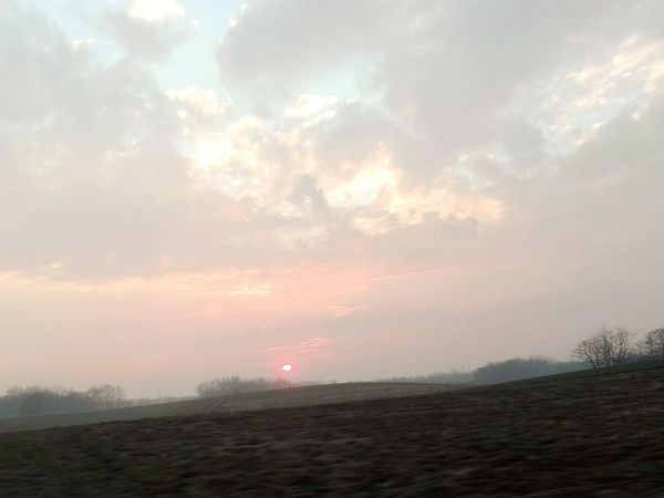Sunset Landscape Nature Tranquility Beauty In Nature Cloud - Sky No People From Car Window Brianza