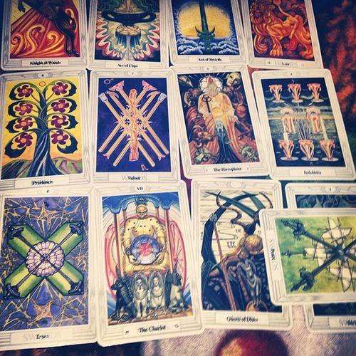 8bloomingflowers Thoth Tarot Thothtarot thinkpositive thothtarotcards fertility newbeginnings spring spiritual thoth tarotcards tarotreader tarotreading key connection emotions protection past present future