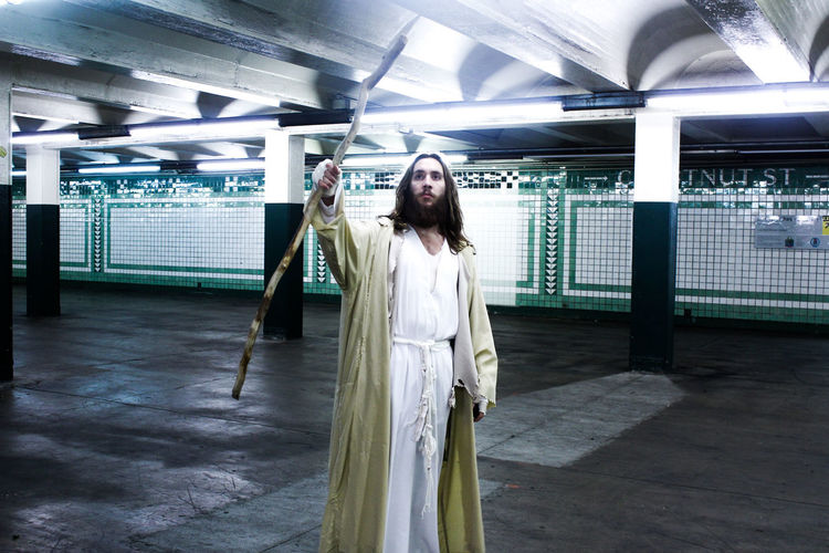 Subway Messiah Philadelphia Pennsylvania Subway Undergroundphotography Jesus Real People USA Fineartphotography Surreal