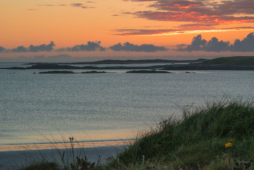 Beach Beauty In Nature Calm Calm Sea Day Horizon Over Water Island Isle Of North Uist Landscape Nature No People Outdoors Outer Hebrides Sand Scenics Scotland Scotlandsbeauty Sea Sunset Tourism Tranquil Scene Travel Destinations Western Isles