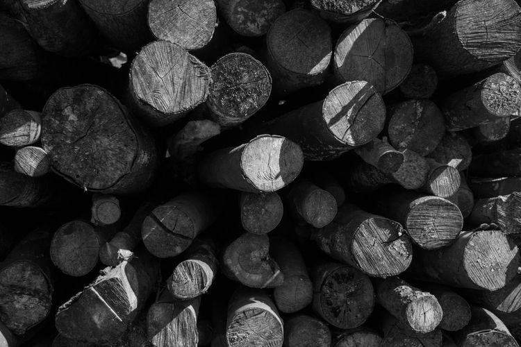Full Frame Shot Of Firewoods