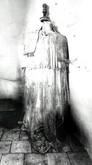 Old Dress Water Dissolving Drop Wet Close-up