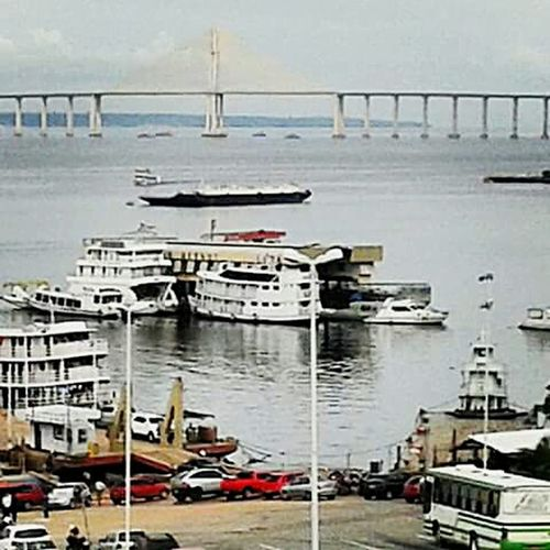 Porto Fluvial Harbour View Negro River Bridge View Pontemanaus-iranduba Amazonas Brazil