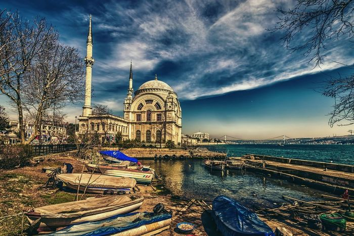 Architecture Bhosporus HDR Istanbul Mosque Turkey Outdoors Travel Destinations Water