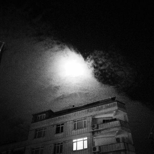 Dark Moonlight Clouds And Sky Night