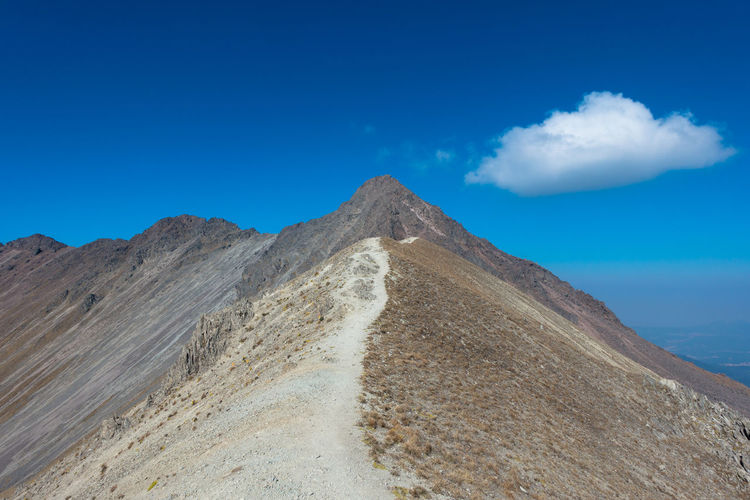 Blue Cloud - Sky Desert Hiking Landscape Mexico Mountain Nature Over4000m Path Scenery Scraggy Sky Tranquility Volcano