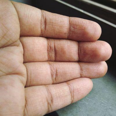 EyeEm Selects Human Hand Human Finger Close-up Palm Damaged Bad Condition Painting Fingernails Handprint Stop Gesture Finger Ruined Fingernail
