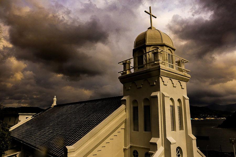 After The Rain Church Architecture Cloud - Sky Dramatic Sky Streetphotography Japan Photography EyeEm Gallery Eyemphotography 神ノ島 神ノ島教会 Place In The Sun Nagasaki Nagasaki JAPAN