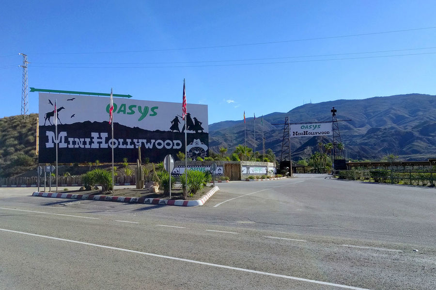 Tabernas, Spain - December 22, 2016: Mini Hollywood (Oasys) signboard, is a Spanish Western-styled theme park, located near the town of Tabernas in the province of Almeria, Andalusia. Almería Almería Spain Andalusia Oasys Road SPAIN Beauty In Nature Day Famous Place Famous Places Landmark Mini Hollywood Mountain Mountain Range No People Oasysminihollywood Outdoors Road Scenics Signboard Signboards Spaghetti Western Tabernas Tabernas Desert Western Movies