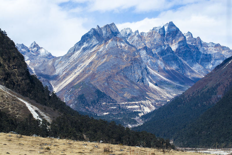 North Sikkim, India Mountain Sky Mountain Range Landscape Environment Scenics - Nature Beauty In Nature Mountain Peak Snow Nature Cloud - Sky Cold Temperature Wilderness No People Day Tranquility Tranquil Scene Outdoors Scenery Range Formation High Snowcapped Mountain Height