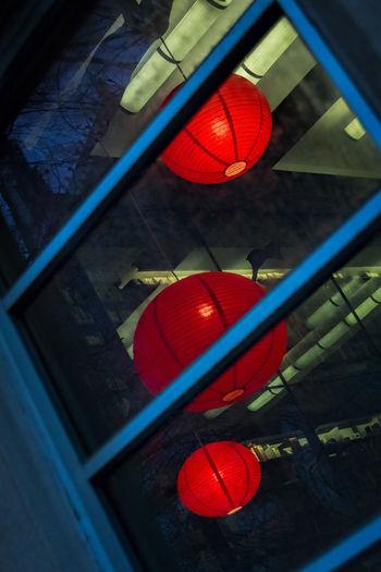 Red lanterns. Happy New Year! Showcase: January Princeton Princeton University Abstract Lantern Lanterns Chinese Lanterns Window