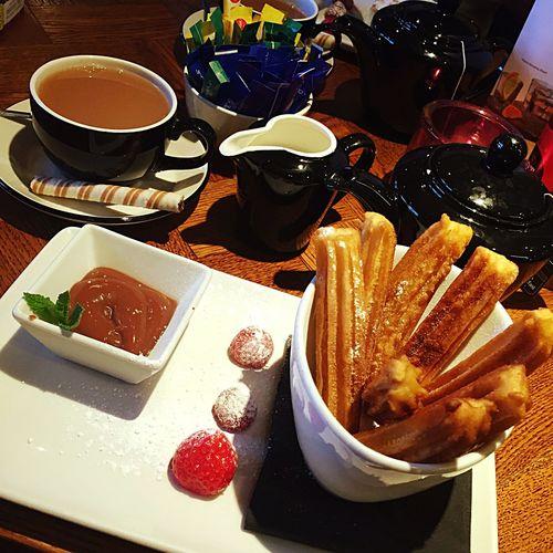 churros and tea