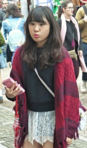 The teen scene in Tokyo, Harajuku... Japanese Style Japan Japanese  Japanese Culture Tokyo People People Watching Streetphotography The Human Condition The Places I've Been Today Teen TeenagerThe Street Photographer - 2015 EyeEm Awards The Portraitist - 2015 EyeEm Awards