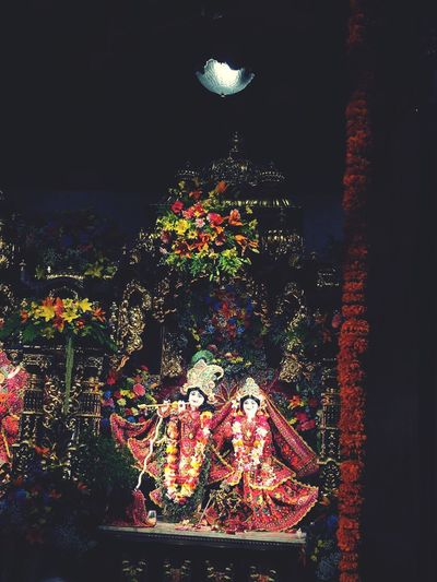 Haribol Krishna Temple Janmashtamiceleberation Janmashtami Krishna Lighting Equipment Christmas Pattern Holiday Indoors  Celebration Glowing Window Light