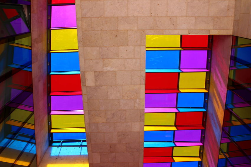 Multi Colored Variation Vibrant Color Yellow Purple Stack Pink Color Abstract Choice Rainbow No People Day Indoors  Color Swatch Architecture Sommergefühle