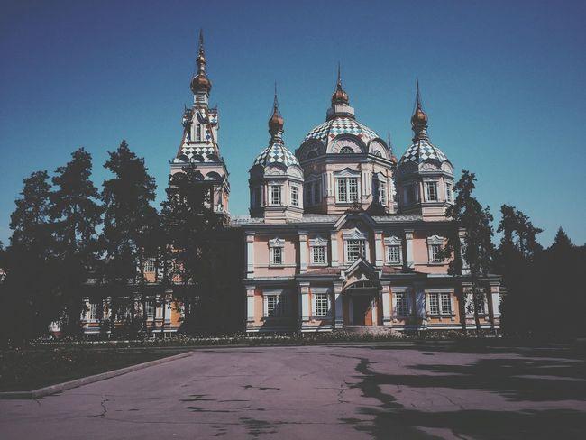 Russian Church Kazakhstan Almaty Park Architecture Beautiful Traveling