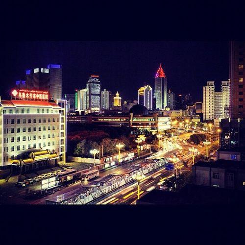 City centre by night - Urumqi (Xinjiang) XinJiang China Longexposure 5dmk2 zeiss