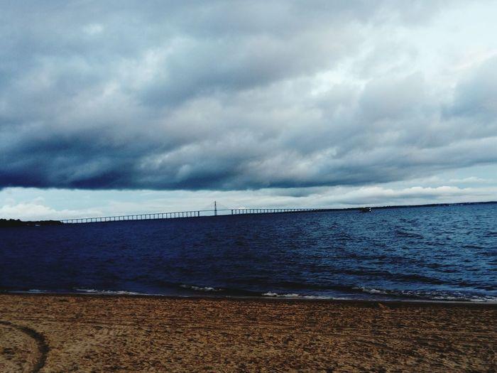 Water Sea Beach Sand Blue Sailing Ship Summer Sky Horizon Over Water Cloud - Sky