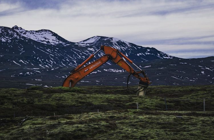 Industry with the edge. Mountain Mountain Range Snow Sky Nature Outdoors Landscape Winter Beauty In Nature Cold Temperature No People Day Iceland Trip Beauty In Nature Adventure Sony A6000 Sonyalpha Formatt Hitech Iceland_collection Iceland Memories Scenics Cloud - Sky