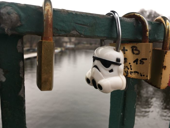 Starwars Stormtrooper Alone Searching For The Dark Side Metal Water Close-up Transportation Protection Day No People Outdoors Lock Locked