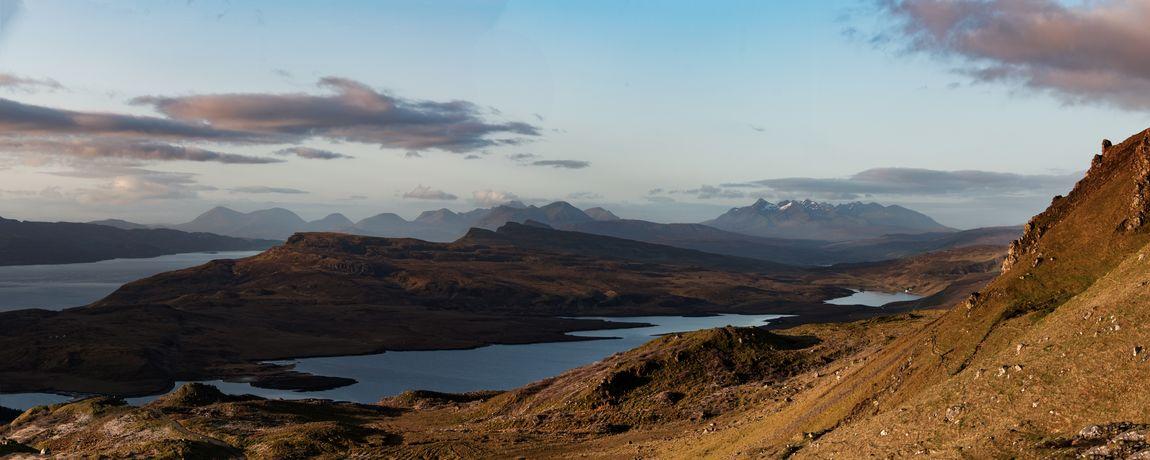 Nature Panorama Scotland Lake Landscape Mountain Mountain Range Outdoors Remote Scenics - Nature Water