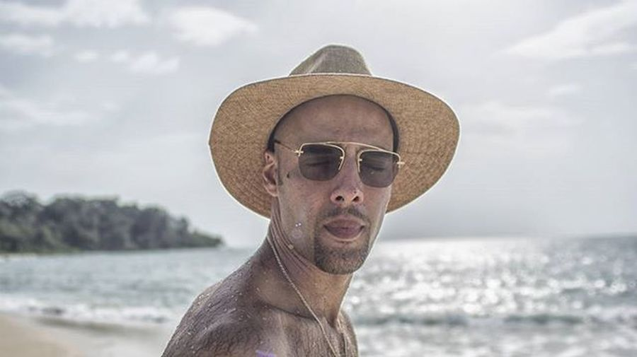 Grimace. . . . Grimace Boy Look Instamood Like Beach Summer Luffy Hat Sunglasses Happy Happyness Funny Friend Family