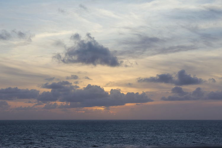 Caribbean Sunset Sky Water Cloud - Sky Sea Tranquility Scenics - Nature Nature Beauty In Nature No People Sunset Caribbean Sunset Sunset Over Water Sunset Over The Sea