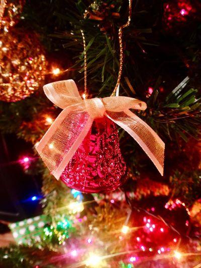 Christmas Tree Christmas Christmas Decoration Decoration Christmas Ornament Christmas Lights Christmas Bell Red Bell Glitter Glittery Bell