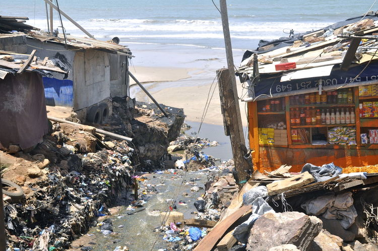 Africa Beach Built Structure Environmental Issues Environmental Pollution Ghana Outdoors Pollution Poor People  Poverty Sea Slum Slums Waste Waste Disposal Water Pollution West Africa Hut Poor People  Shack Shanty Accra The Week On EyeEm End Plastic Pollution