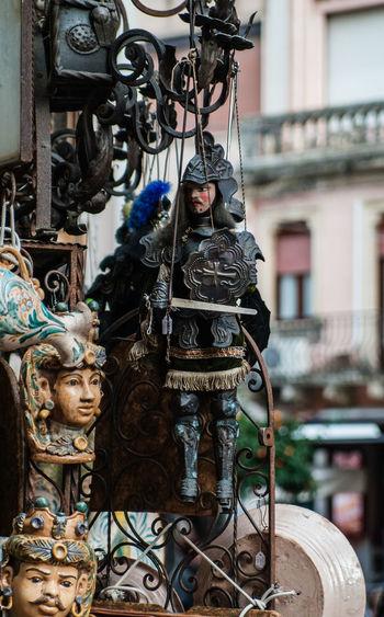 Ceramica Marionetta Opera Dei Pupi Pupo Siciliano Sculpture Sicilia Testa Di Moro
